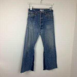 Re/Done Vintage Levi's Flare Leg High Rise Jeans